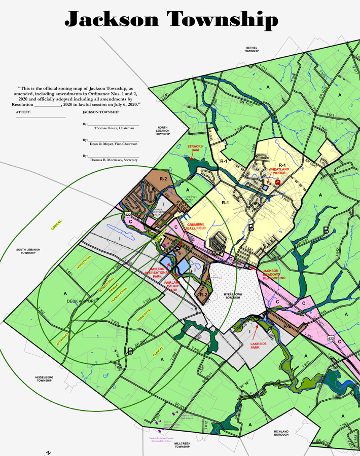 Jackson Township Zoning Map